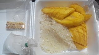 Thai Coconut Sticky Rice And Mango/ข้าวเหนียวมะม่วง