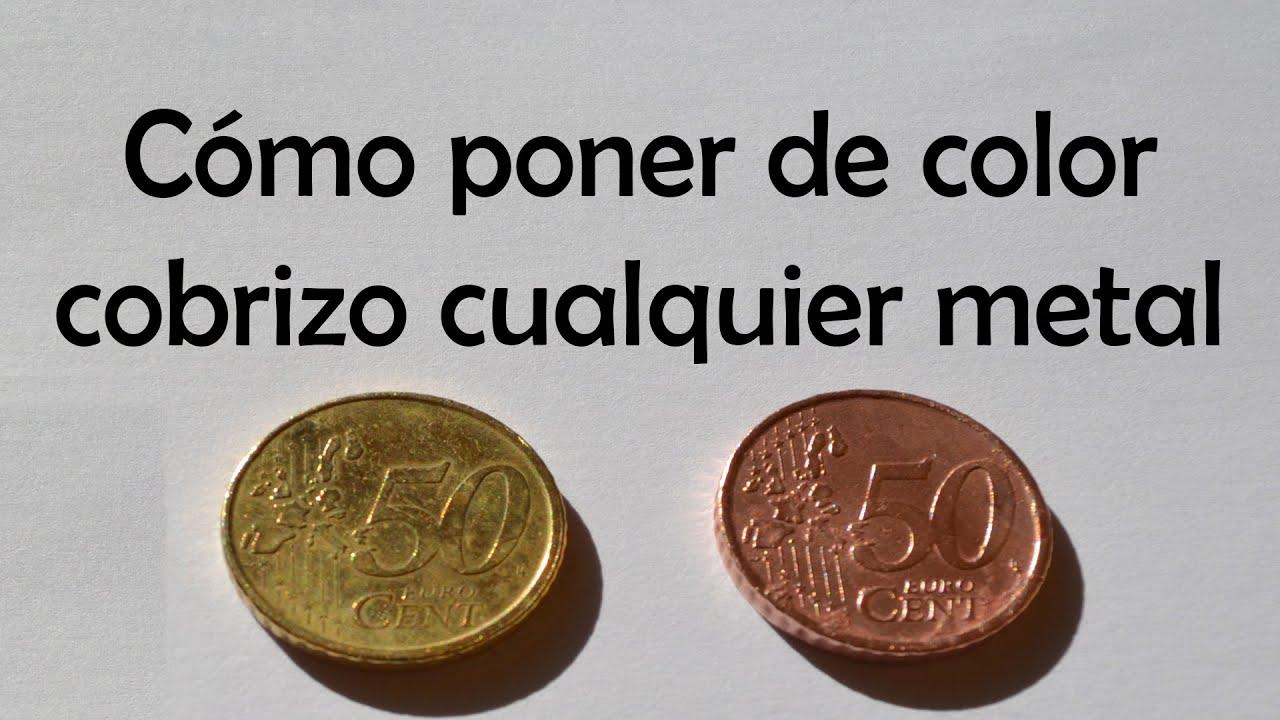 Como poner de color cobrizo cualquier metal como monedas - Como poner una mosquitera ...
