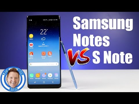 Samsung Notes VS S Note on Note 8 - What Should You Use?