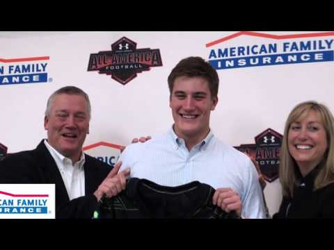 The American Family Insurance Selection Tour for the 2016 Under Armour All-America Game visits Greenwich High School in Greenwich, where All-American Scooter Harrington was presented with his honorary game jersey.
