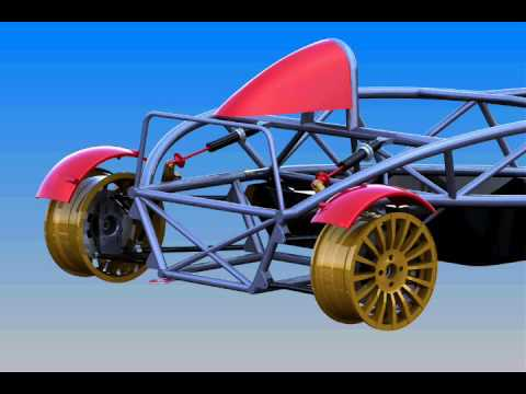 Good Solidworks Sport Car Rear Suspension Simulation