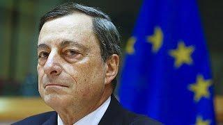 Europäische Zentralbank: Der Leitzins im Euroraum sinkt von 0,05 auf null Prozent.