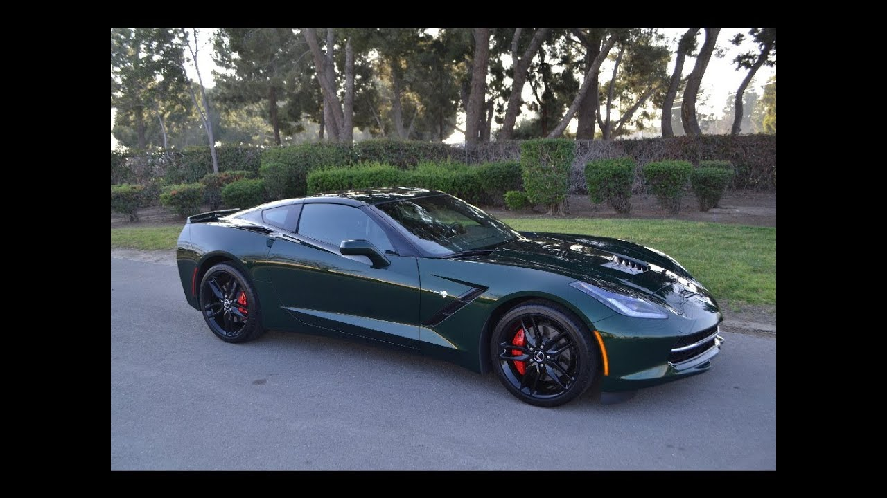 sold c7 2014 chevrolet corvette coupe lime rock green for sale by corvette mike anaheim ca. Black Bedroom Furniture Sets. Home Design Ideas