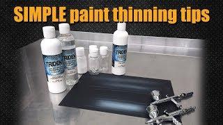 Airbrush Quick Tips : Reducing Paint