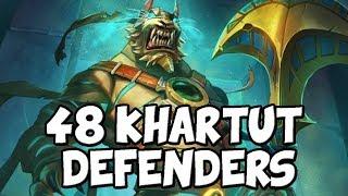 Summoning 48 Khartut Defenders in One Game! [Hearthstone] Saviors of Uldum