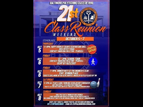 Baltimore Polytechnic Institute Class of 1996 21st Reunion Throwback Slideshow