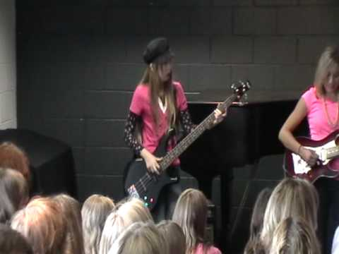 Girls school of rock band the crushers performing at white for House music girls