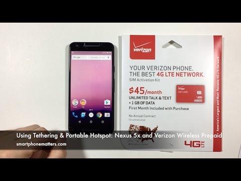 Using Tethering & Portable Hotspot: Nexus 5x and Verizon