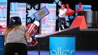 Ellen Plays a Wintry Sorry Spin