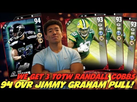 WE GET NEW 3 RANDALL COBBS & JIMMY GRAHAM!? MADDEN 17 ULTIMATE TEAM PACK OPENING