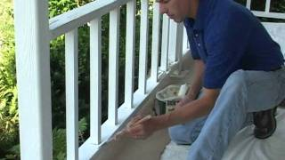 Caulk And Paint Porch Rail