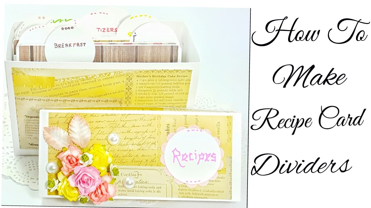 how to make recipe card dividers for recipe box