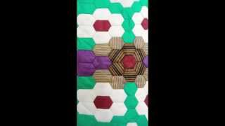 Easy Way To Colour Patchwork Pattern. Epp. Fibonacci And Elongated Hexagons