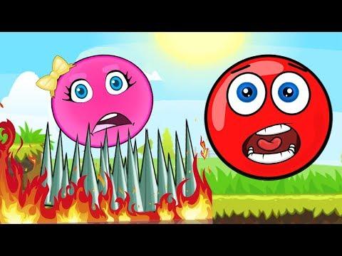 КРАСНЫЙ ШАРИК и Розовый Шар (квадрат) Девочка - Red Ball новая Серия 1