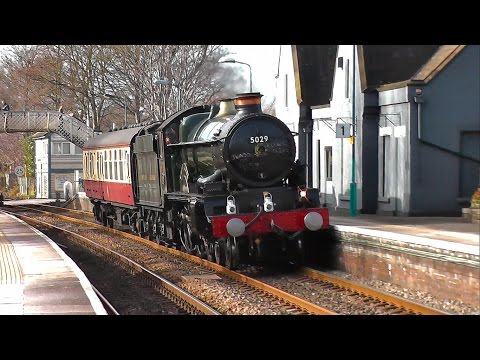 GWR Castle No. 5029 'Nunney Castle' - Farewell & Final Mainline Trip - 17/2/15
