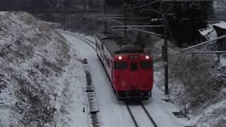 青い森鉄道 キハ40系592D 八戸~北高岩 2018年1月18日