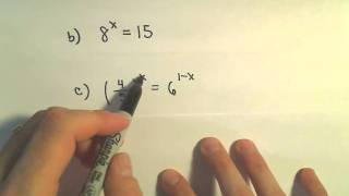 Solving Exponential Equations - S๐me Basic Examples