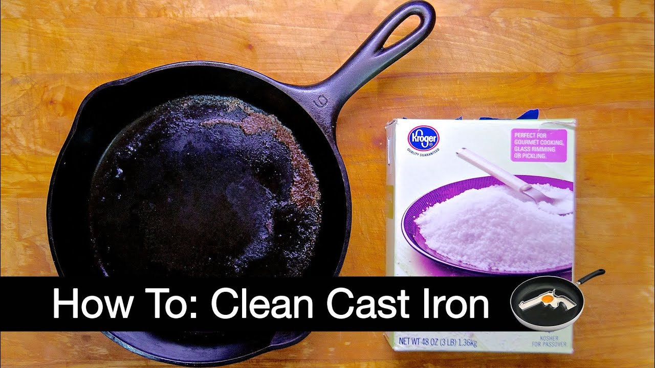 how to clean your cast iron skillet youtube. Black Bedroom Furniture Sets. Home Design Ideas