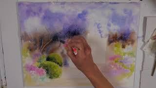 Une glycine à l'aquarelle (wisteria in watercolor)