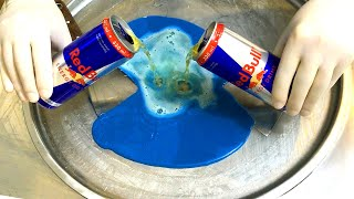 Red Bull Ice Cream Rolls | how to make blue Red Bull Ice Cream to get more Energy - satisfying video