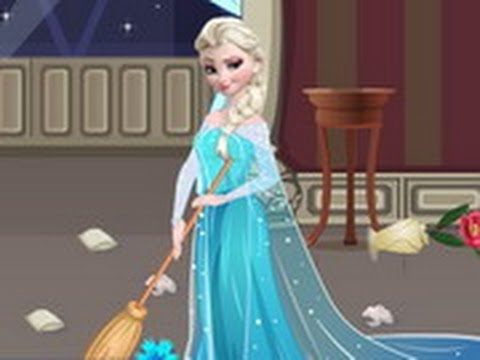 Elsa House Cleaning Disney Princess Elsa Frozen Games Youtube