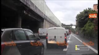 GENOVA TRAFFICO IN TILT IN CITTA E IN AUTOSTRADA IMMAGINI 21-05-15