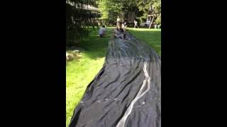 Slip and slide with anthony and Greg