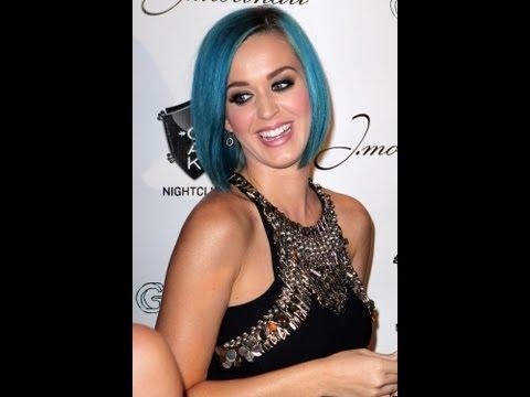 Katy Perry's New Blue Hair Do!