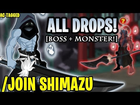 AQW - /JOIN SHIMAZU (Shimazu BOSS Drops & Monster Drops!) (AC-TAGGED) + ITEM Showcase!