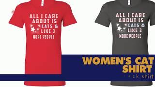 Women cat shirts - amazing women's cat racerback tank