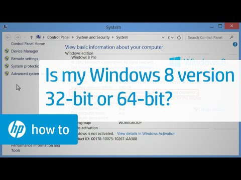 Is My Windows 8 Version 32-bit or 64-bit?