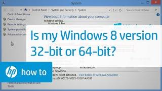 Is My Windows 8 Version 32-bit or 64-bit?(, 2013-10-24T20:59:17.000Z)