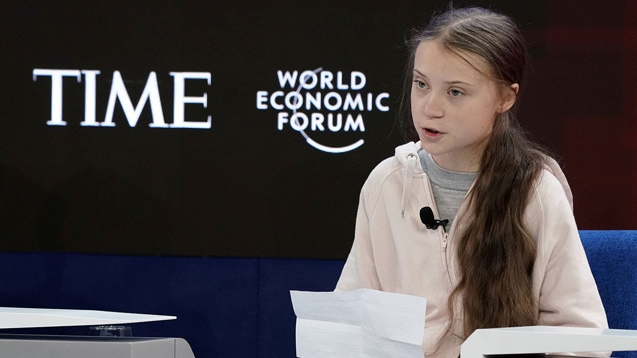 Image result for greta thunberg+davos