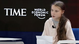 17-year-old climate activist greta thunberg demanded urgent action during her appearance at davos 2020.read more about the world economic forum event here: h...