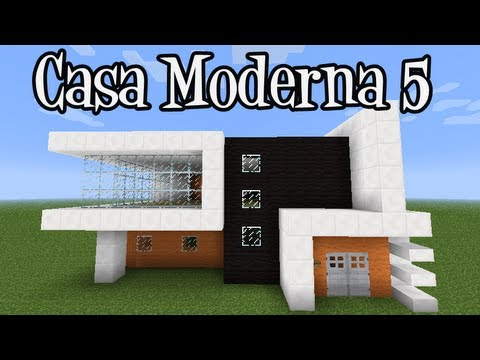 Tutoriais minecraft como construir a casa moderna 5 youtube for Casa moderna lecheria