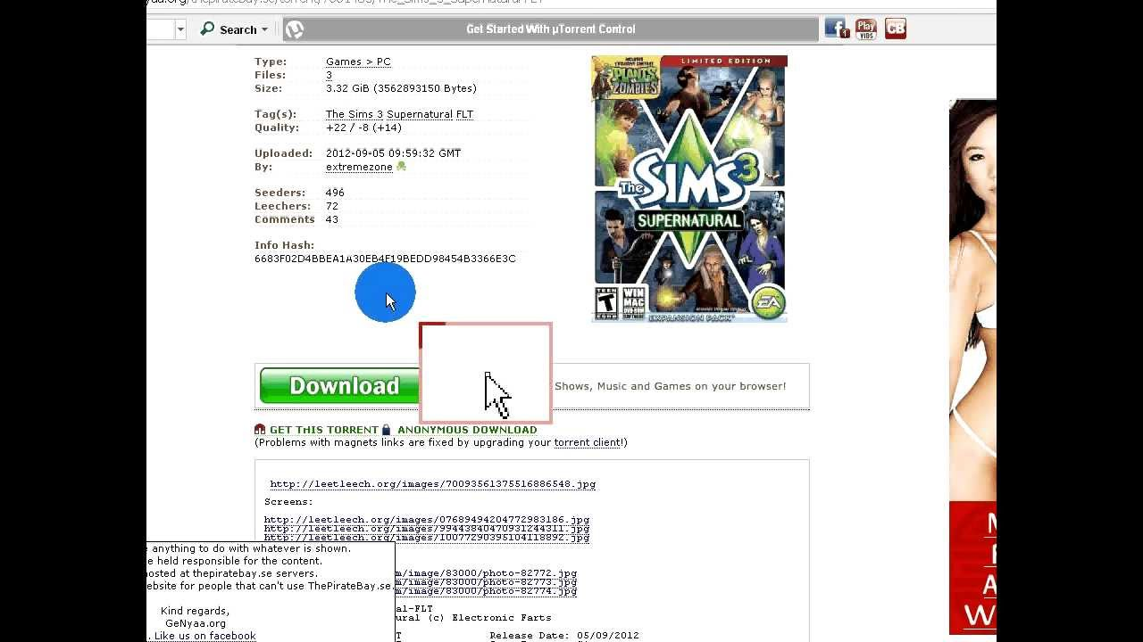 The sims 3: supernatural full free download.