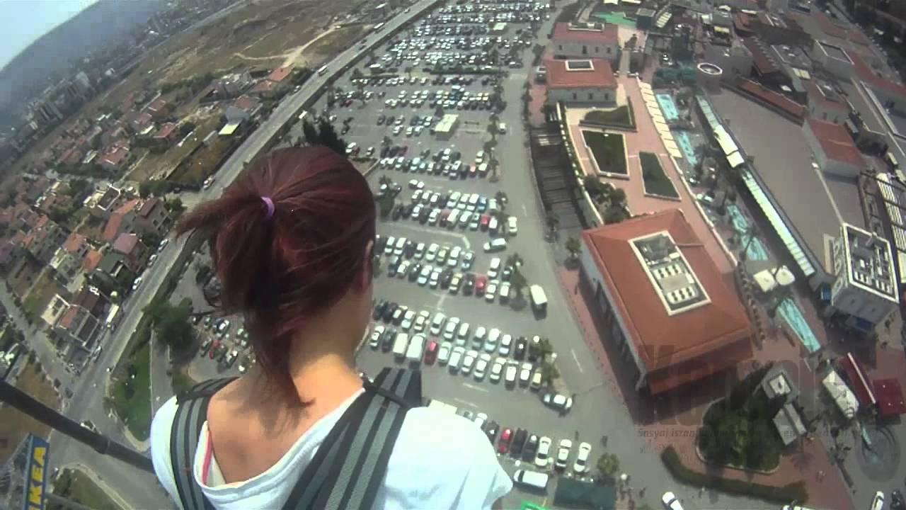 Türkiye'den bungee jumping görüntüleri