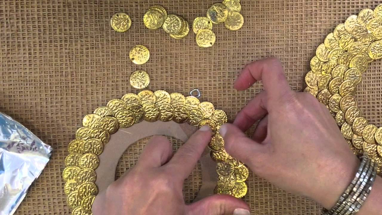 How to DIY Embellish a Frame with Metallic Coin Beads - YouTube