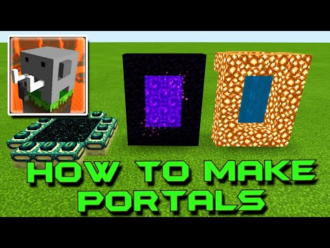 HOW To Make A Portal To NETHER, HEAVEN And END In Craftsman: Building Craft