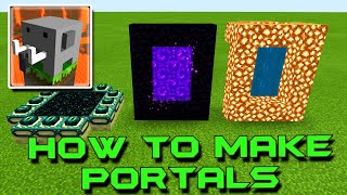 HOW to Make a Portal to NETHER, HEAVEN and END in Craftsman: Building Craft screenshot 3