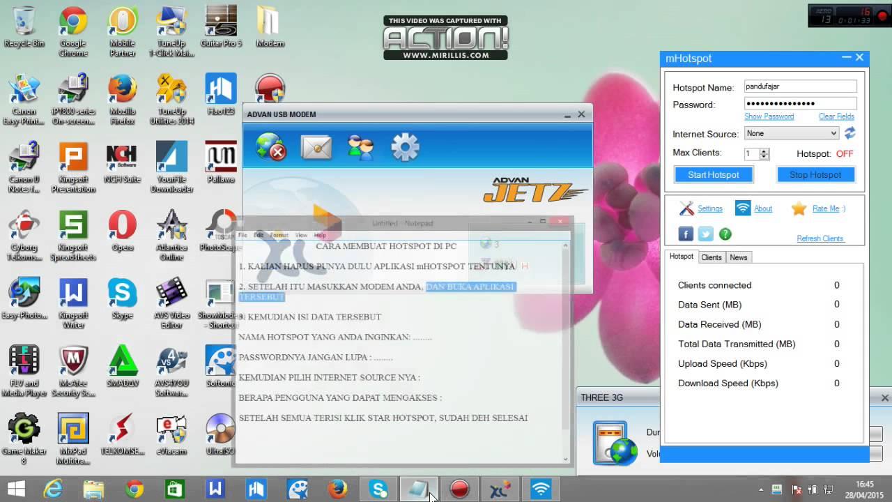 Cara membuat hotspot di laptop menggunakan mHotspot