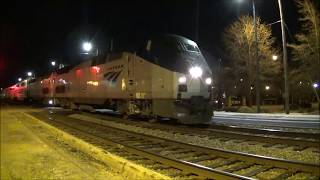 Amtrak Auto Train PO53-20 HAS A MEDICAL EMERGENCY w/SPECTACULAR K5LA & Q438 flies through FAY!