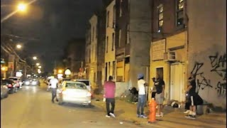 PHILADELPHIA EXTREME GHETTO AT NIGHT