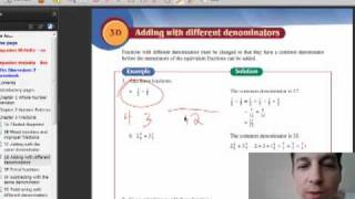 Gambar cover 3D Year 7 Fractions Adding Different Denominators pt1