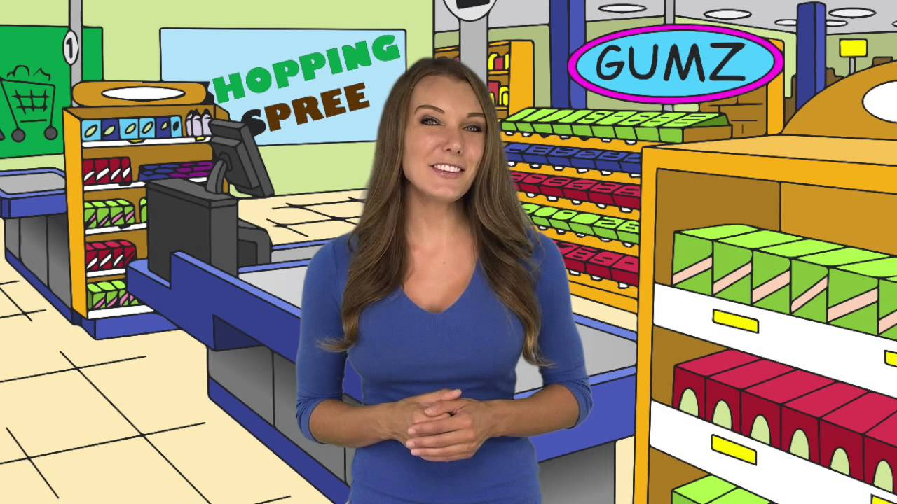 The Checkout Counter At A Grocery Store Background Cartoon - YouTube
