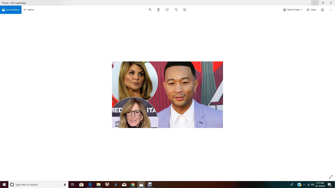 Coonery John Legend Defends Felicity Huffman