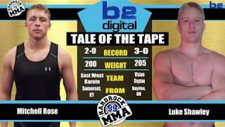 Hardrock MMA 99 Fight 6 Luke Shawley vs Mitchell Rose 205 Ammy Title