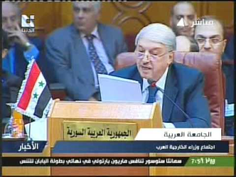 [16/10/2011] Syrian representative to the Arab league gives them final warning