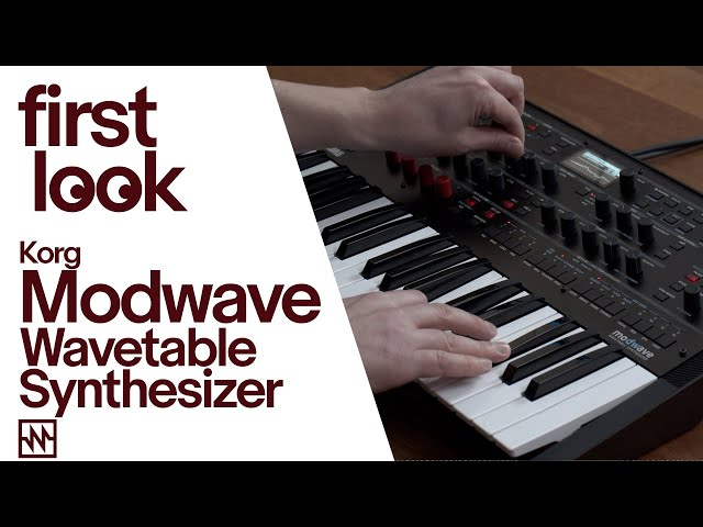 First Look: Korg Modwave Wavetable Synthesizer