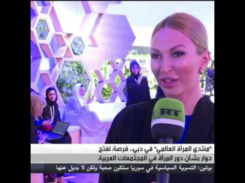 "Tatiana Vishnevskaya for arabic ""Russia Today"" TV channel."
